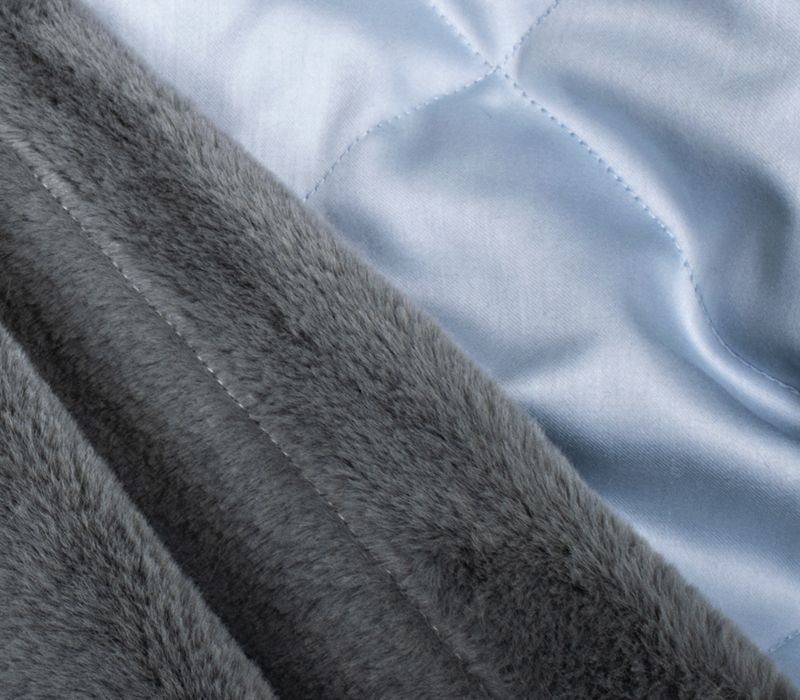 PLAID FUR FROST GRAY