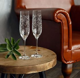 Set of glasses for champagne NATURA