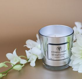Scented Candle White Flowers